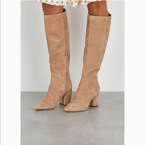 Sam Edelman Hai Knee High Pointed Toe Heeled Boots
